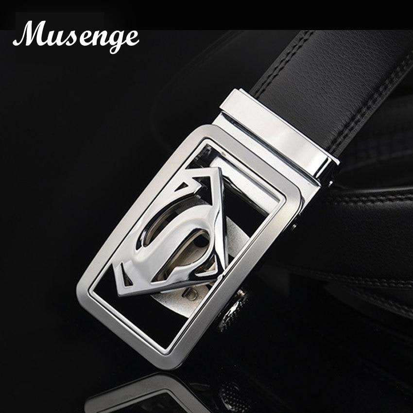 Musenge Male Genuine Leather Designer Belts Men High Quality Men's Belt Luxury Automatic Buckle Belts For Men - DUO MEN STORE