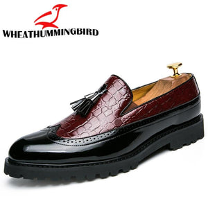 Men Casual shoes breathable Leather Loafers Office Shoes For Men Driving Moccasins - DUO MEN STORE
