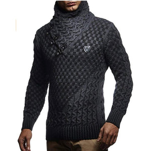 Sexy Turtleneck Pullover Man Casual Knitwear Slim Winter Sweater - DUO MEN STORE