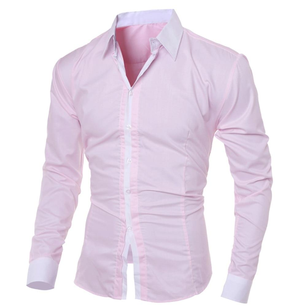 Fashion Personality Men's Casual Slim Long-sleeved Shirt Slim Fit Long Sleeve - duo-men-store