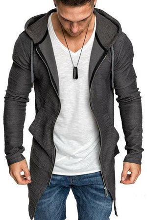 Fashion Newest Hot Men Casual Loose Solid Color Long Sleeve Hooded Overwear Sweater - DUO MEN STORE