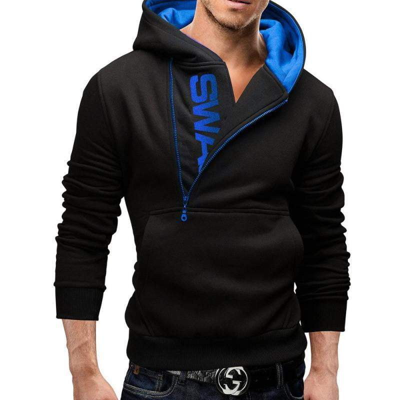 Autumn Fashion men Casual Slim Letter Printing Head Side Zipper Cashmere Sweater - DUO MEN STORE