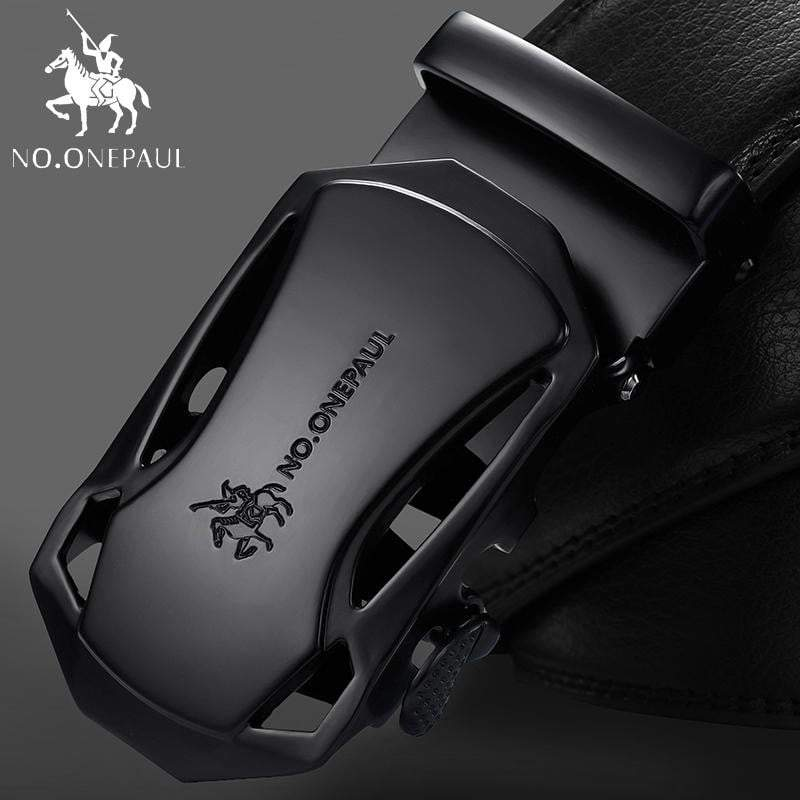 Brand Fashion Automatic Buckle Black Genuine Leather Belt Men's Belts Cow Leather Belts for Men - DUO MEN STORE
