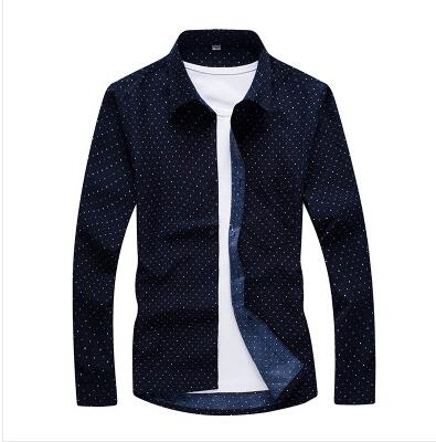 New Fashion Floral Print Slim Fit Shirts Men's Long Sleeve Casual Dress Shirts - DUO MEN STORE