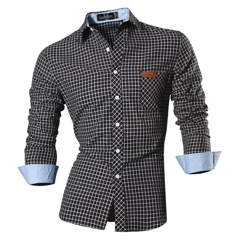 Features Shirts Men Casual Jeans Shirt New Arrival Long Sleeve Casual Slim Fit - duo-men-store