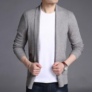 Fashion Brand Sweater For Mens Cardigan Long Slim Fit Jumpers - DUO MEN STORE
