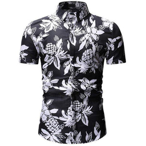 Brand Short Sleeve Plus Size Floral Shirts Men Casual  Clothing - DUO MEN STORE