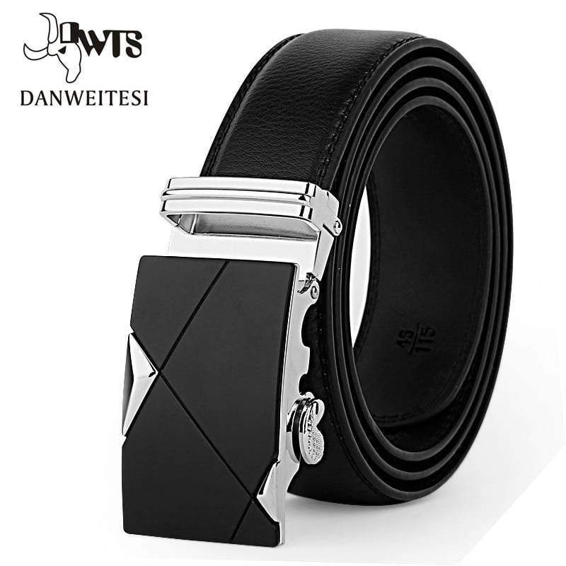 Belt Male Genuine Leather Strap Belts For Men Top Quality Automatic Buckle Black Belts - DUO MEN STORE