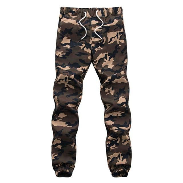 Men Camouflage Military Loose Comfortable Cargo Trousers Camo - duo-men-store