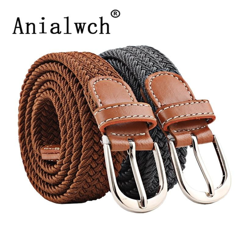 New Mens Casual Stretch Woven Belt Women's Child Elastic Belts For Knitted Belts Men - duo-men-store