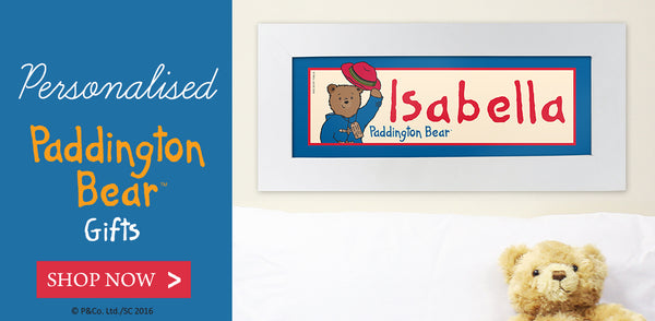 Personalised Paddington Bear Gifts | Give Personalised Gifts