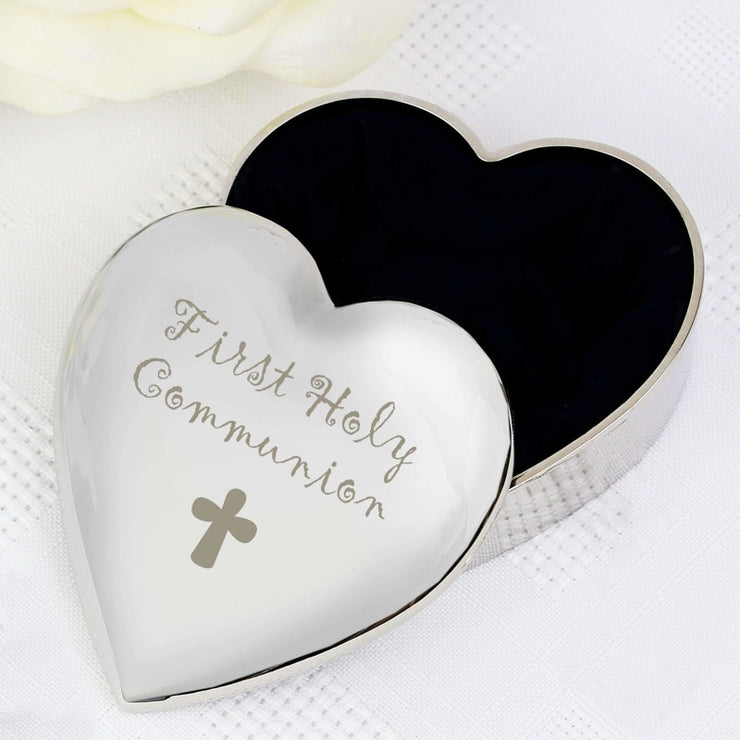 1st Holy Communion Heart Trinket Box-Trinket Box-Give Personalised Gifts