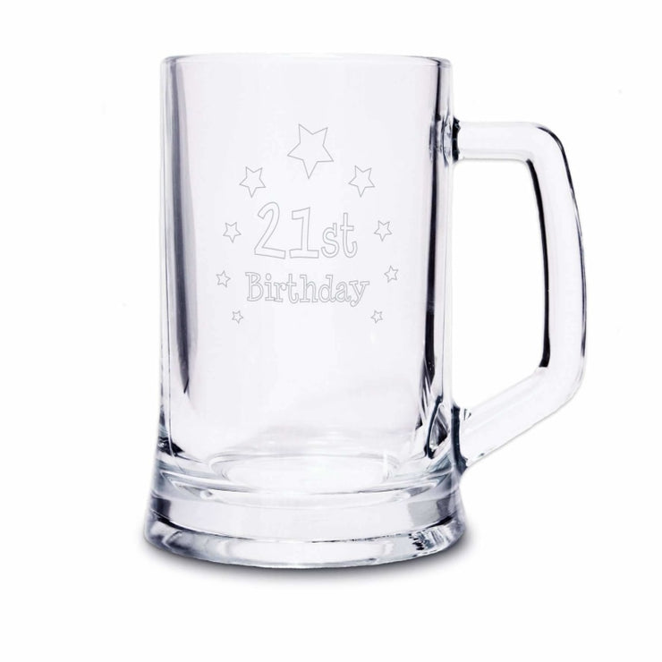 21st Birthday Stern Tankard-Tankard-Give Personalised Gifts