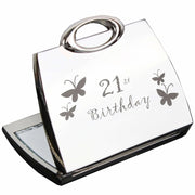 21st Butterfly Handbag Compact Mirror-Compact Mirror-Give Personalised Gifts