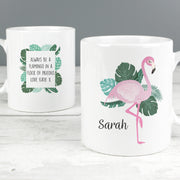 Personalised Flamingo Slim Mug-Mugs-Give Personalised Gifts