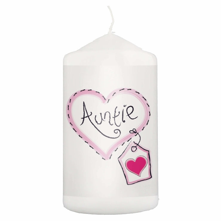 Auntie Heart Stitch Candle-Candles & Holder-Give Personalised Gifts