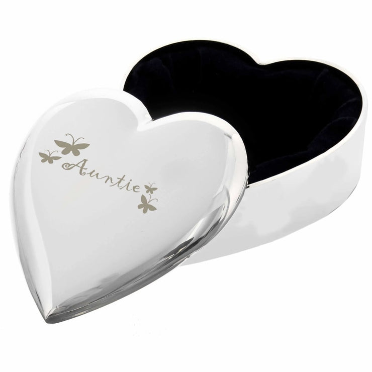 Auntie Heart Trinket Box-Trinket Box-Give Personalised Gifts