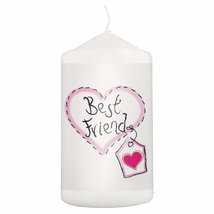 Best Friend Heart Stitch Candle-Candles & Holder-Give Personalised Gifts