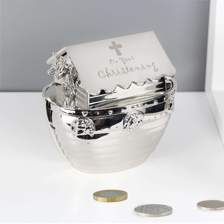 Christening Noahs Ark Money Box-Money Box-Give Personalised Gifts