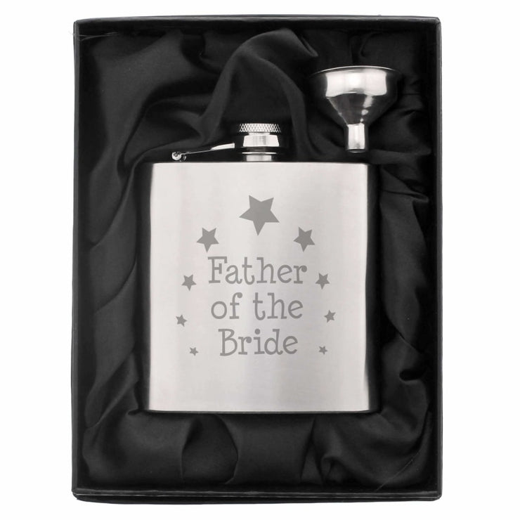 Father of the Bride Hip Flask-Hip Flask-Give Personalised Gifts