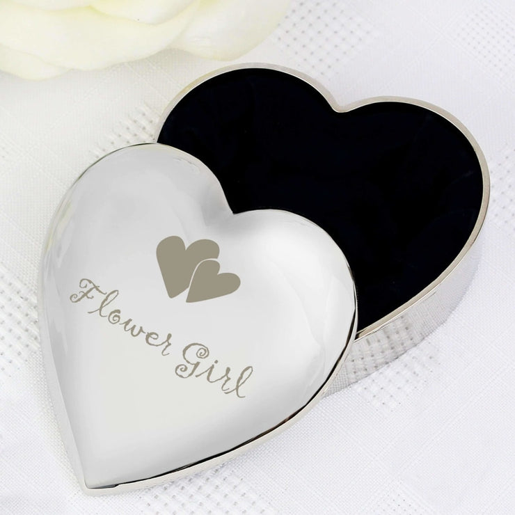 Flower Girl Heart Trinket Box-Trinket Box-Give Personalised Gifts