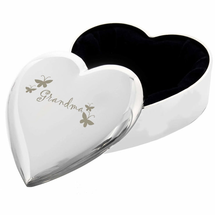 Grandma Heart Trinket Box-Trinket Box-Give Personalised Gifts