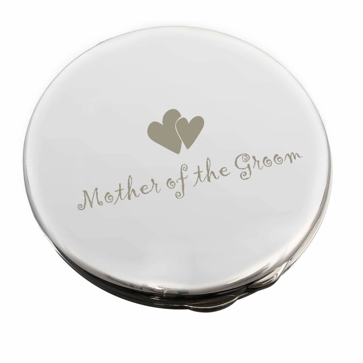 Mother of Groom Round Compact Mirror-Compact Mirror-Give Personalised Gifts