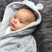 Personalised 0-6 Months Hooded Baby Dressing Gown-Hooded Towel-Give Personalised Gifts