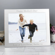 Personalised 10x8 Silver Photo Frame-Photo Frame-Give Personalised Gifts