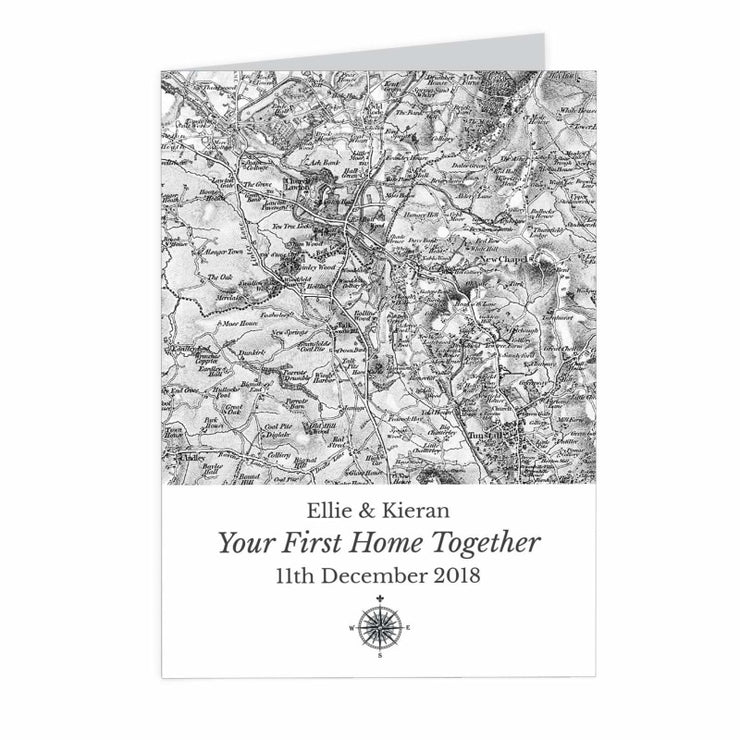 Personalised 1805 - 1874 Old Series Map Compass Card-Personalised Cards-Give Personalised Gifts