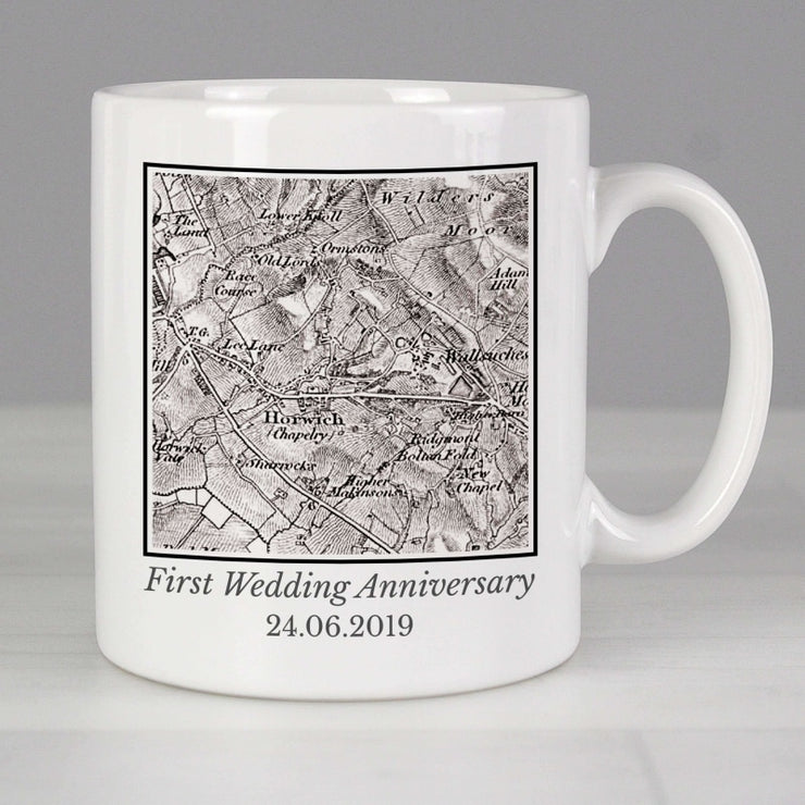 Personalised 1805 - 1874 Old Series Map Compass Mug-Mugs-Give Personalised Gifts
