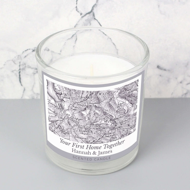 Personalised 1805 - 1874 Old Series Map Compass Scented Jar Candle-Candles & Holder-Give Personalised Gifts
