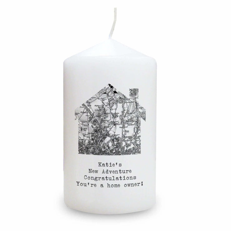 Personalised 1805 - 1874 Old Series Map Home Candle-Candles & Holder-Give Personalised Gifts
