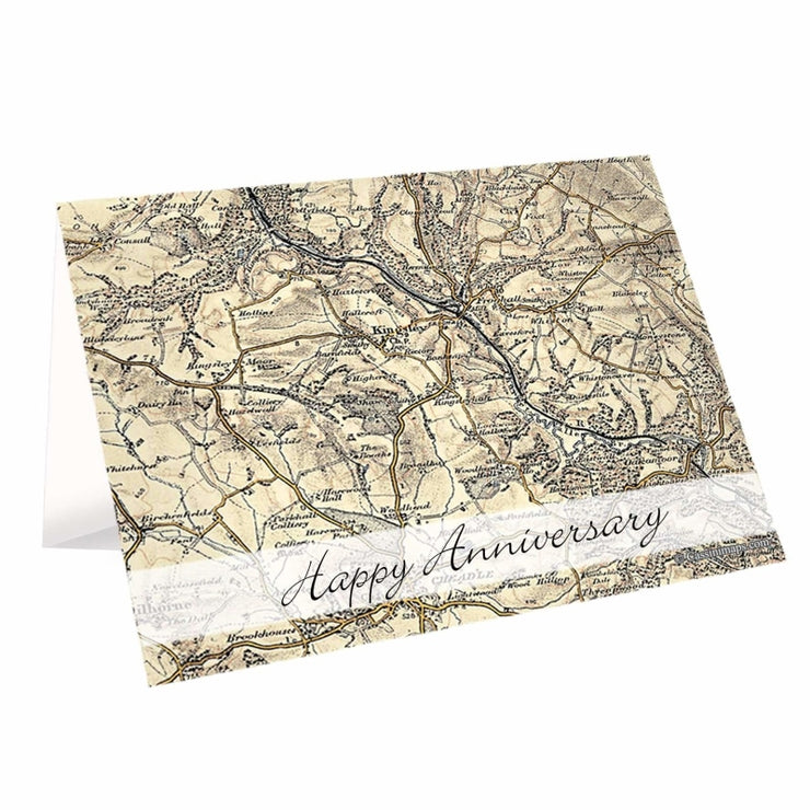Personalised 1896 - 1904 Revised New Map Card-Personalised Cards-Give Personalised Gifts
