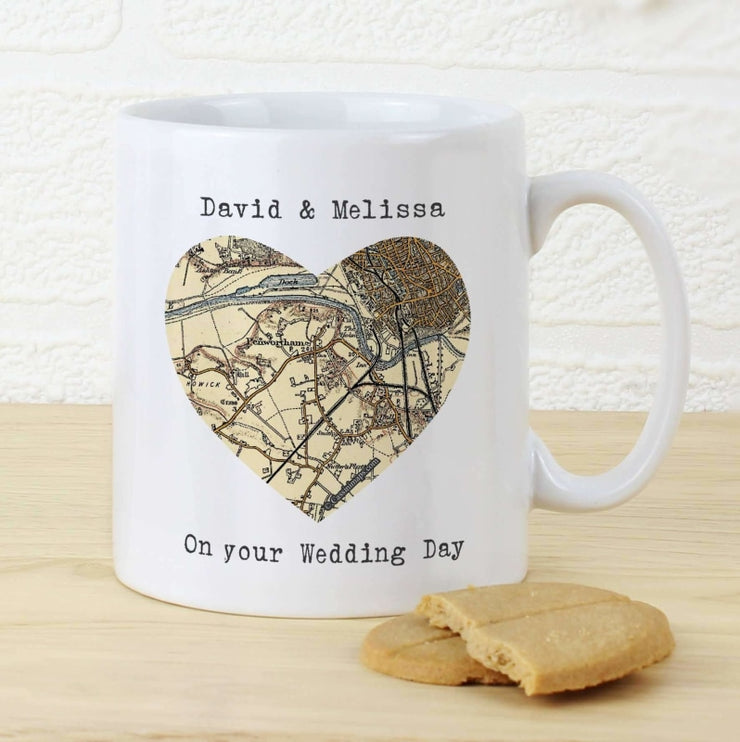 Personalised 1896 - 1904 Revised New Map Heart Mug-Mugs-Give Personalised Gifts