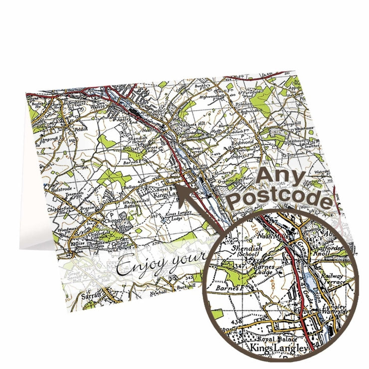 Personalised 1945 - 1948 New Popular Map Card-Personalised Cards-Give Personalised Gifts