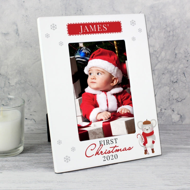 Personalised '1st Christmas' 6x4 Photo Frame-Photo Frame-Give Personalised Gifts