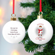 Personalised '1st Christmas' Mouse Bauble-Bauble-Give Personalised Gifts