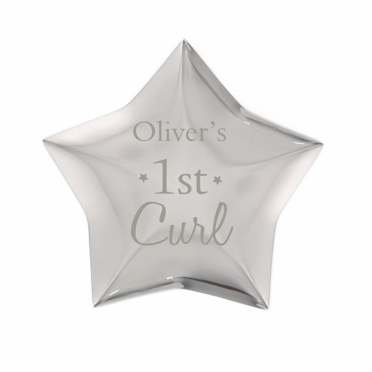 Personalised 1st Curl Star Trinket Box-Trinket Box-Give Personalised Gifts