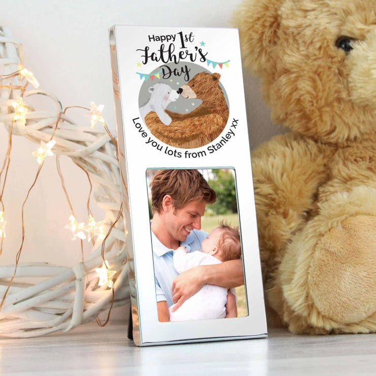 Personalised 1st Fathers Day Daddy Bear 2x3 Photo Frame-Photo Frame-Give Personalised Gifts