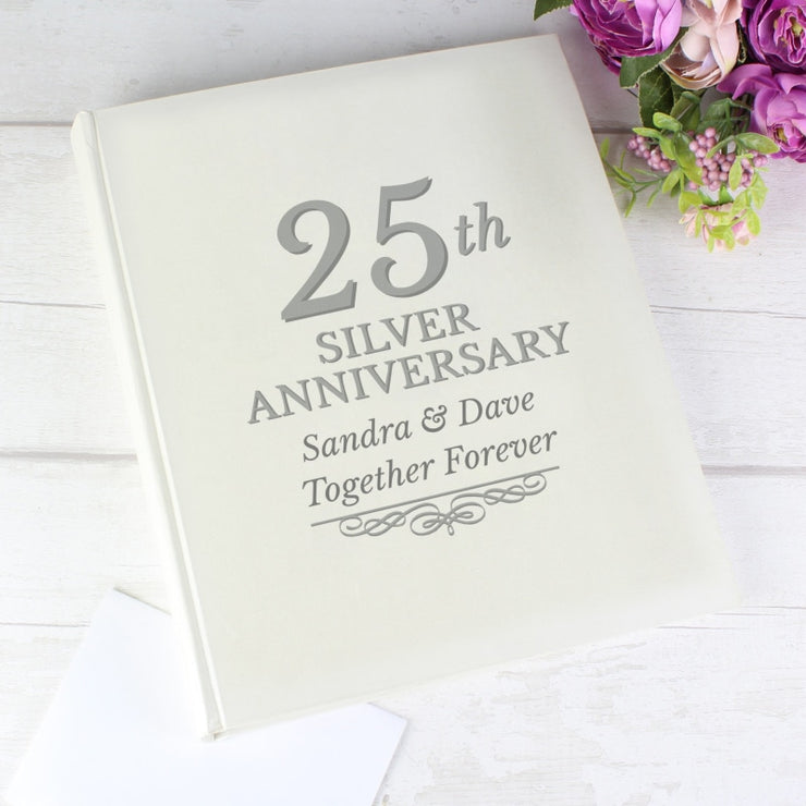 Personalised 25th Silver Anniversary Traditional Photo Album-Photo Album-Give Personalised Gifts