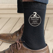 Personalised 2nd Anniversary Mens Socks-Socks-Give Personalised Gifts