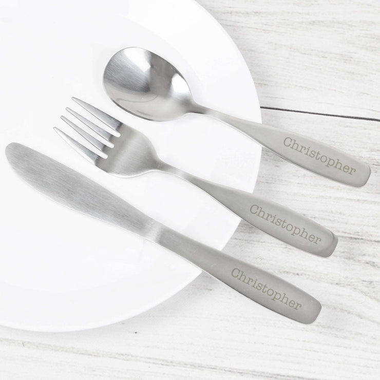 Personalised 3 Piece Cutlery Set-Cutlery Set-Give Personalised Gifts