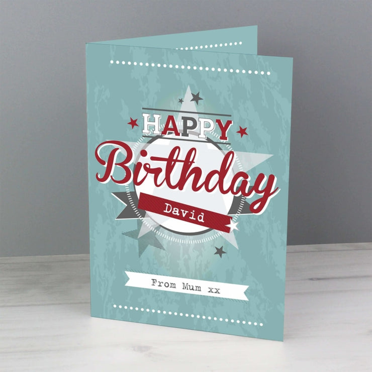 Personalised 50s Retro Card-Personalised Cards-Give Personalised Gifts
