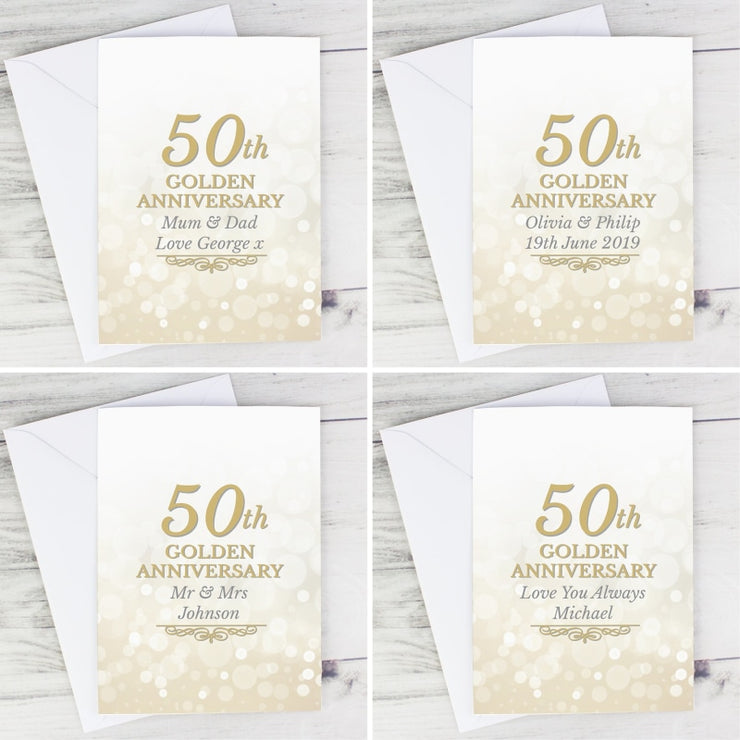 Personalised 50th Golden Anniversary Card-Personalised Cards-Give Personalised Gifts