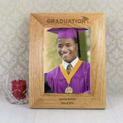Personalised 5x7 Graduation Wooden Photo Frame-Photo Frame-Give Personalised Gifts