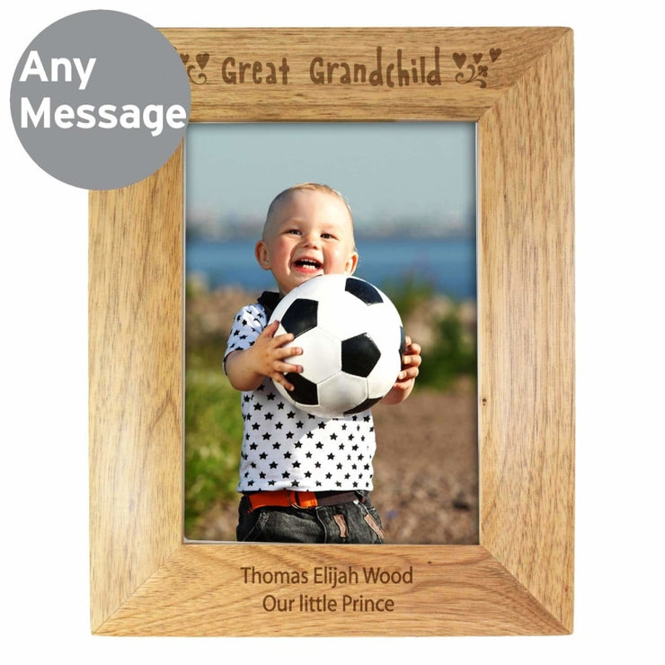 Personalised 5x7 Great Grandchild Wooden Photo Frame-Photo Frame-Give Personalised Gifts