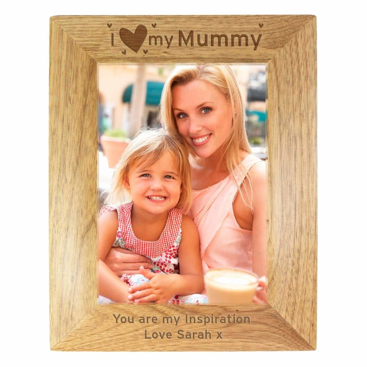 Personalised 5x7 I Heart My... Wooden Photo Frame-Photo Frame-Give Personalised Gifts