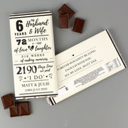 Personalised 6th Wedding Anniversary Milk Chocolate Bar-Chocolate Bar-Give Personalised Gifts