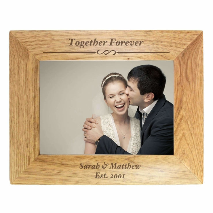 Personalised 7x5 Formal Wooden Photo Frame-Photo Frame-Give Personalised Gifts